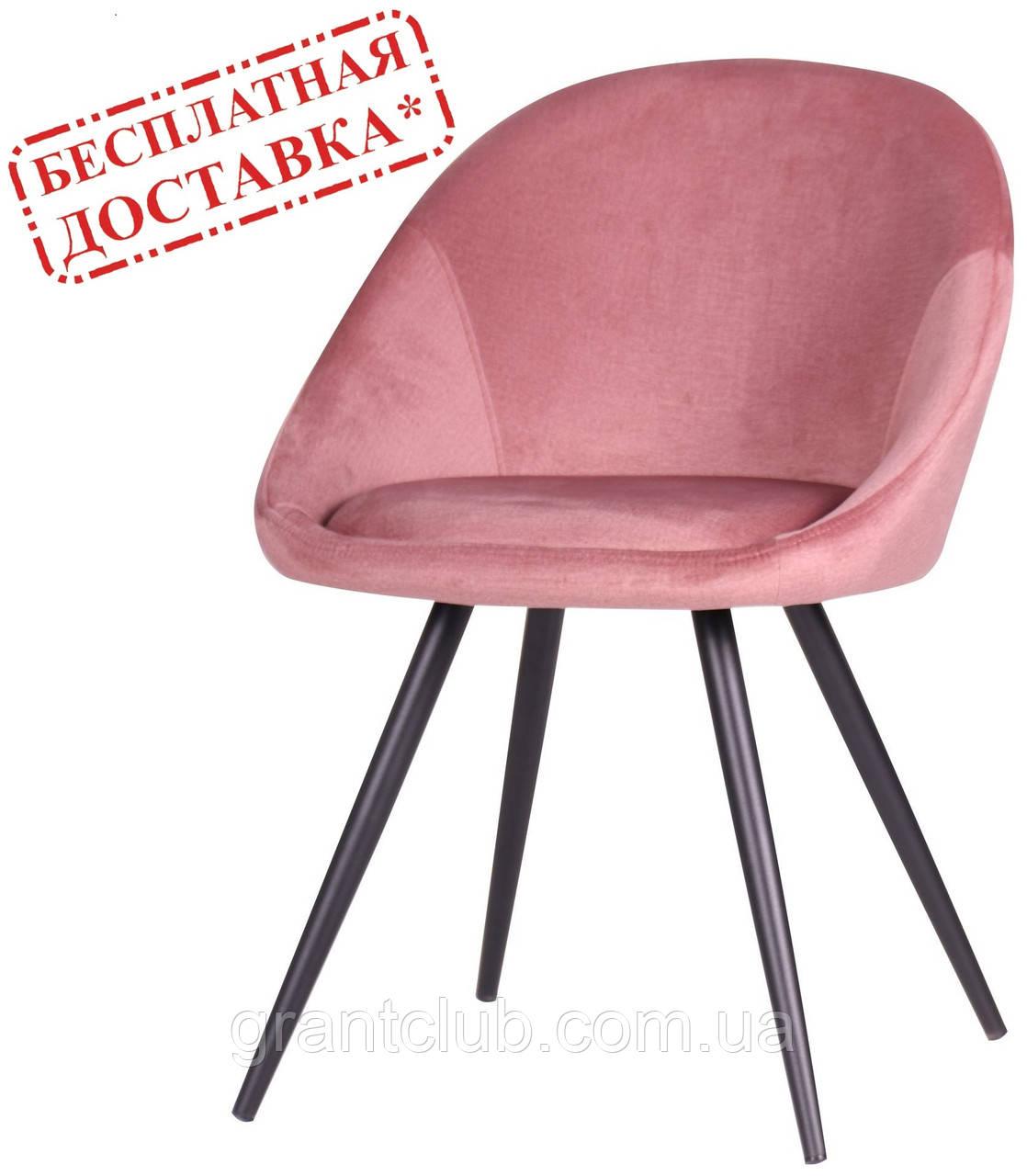 Стул обеденный Mary велюр розовый AMF (бесплатная адресная доставка)