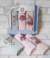 Набір вафельних рушників у коробці (3 шт) 40x60 Nilteks для кухні