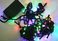 Гирлянда LED 100, 6м (черный провод)
