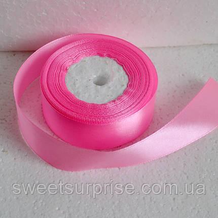 Лента атласная 25 мм. (розовый), фото 2