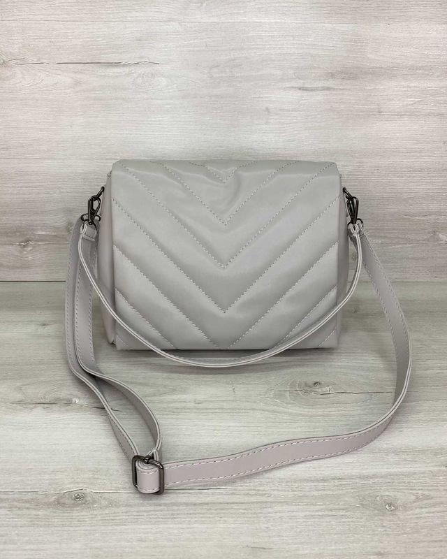 Женская сумка «Сара» серая Welassie
