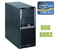 Компьютер Fujitsu Celsius W380 Tower / Intel Core i5-650 2(4) ядра по 3.2-3.46 GHz / 8GB DDR3 / 250 GB HDD