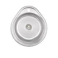 Кухонна мийка Lidz 4843 Decor 0,6 мм (LIDZ484306DEC), фото 1