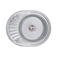 Кухонна мийка Lidz 6044 Decor 0,6 мм (LIDZ604406DEC), фото 1