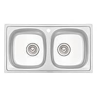 Кухонна мийка Qtap 7843-B Micro Decor 0,8 мм (QT7843BMICDEC08), фото 1