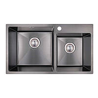 Кухонна мийка Imperial Handmade S7843BL 2.7/1.0 мм (IMPS7843BRPVDH10), фото 1