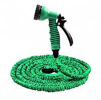Садовый шланг для полива Xhose 60 м с распылителем green