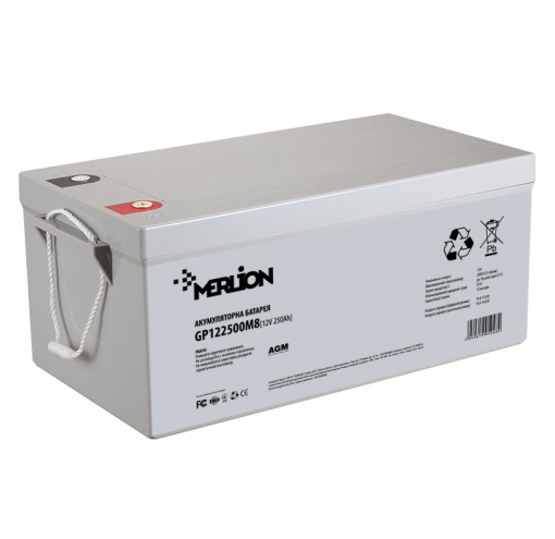 Акумулятор MERLION AGM GP122500M8 12V 250Ah (525x275x278) Q1 свинцево-кислотний