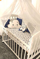 Защита на детскую кроватку, бортики в кроватку, подушка, балдахин, Облоко