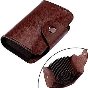 Кредитница картхолдер візитниця карточница кишенькова, шкіра