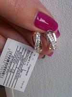 Серебрянные СЕРЬГИ 925 с ЗОЛОТОМ 375