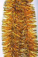 Новогодний декор елочное украшение Мишура дождик ширина 150мм длина 3 м