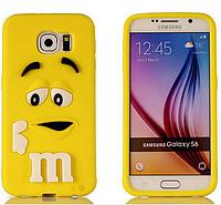 Чехол Силиконовый M&Ms 3D для Samsung G920F Galaxy S6 Желтый