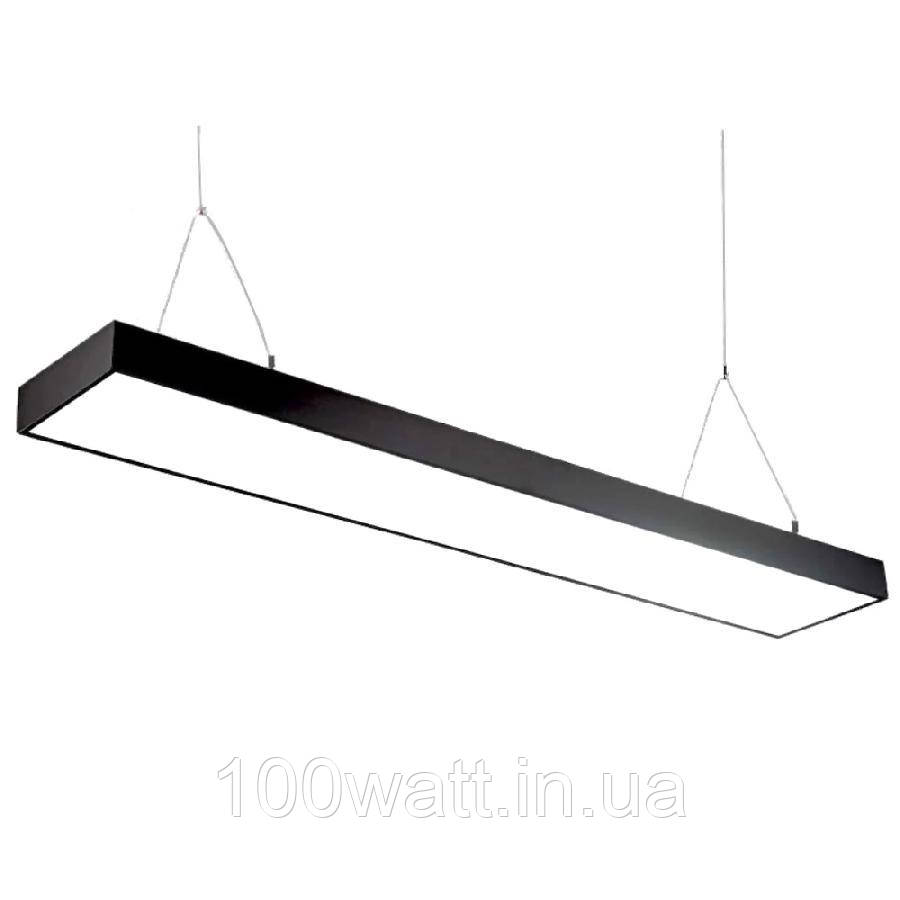 Світильник світлодіодний Sign-48 лінійний підвісний на тросах 48Вт 4200К чорний