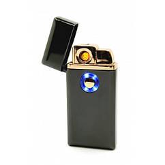 Запальничка USB електроімпульсна + Газ ТН-705 Чорна