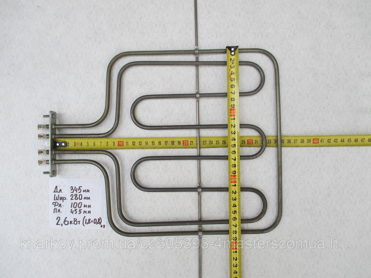 Верхний тэн для духовки Gorenje 2.6 кВт 345x280 мм