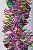 Новогодний декор елочное украшение дождик Мишура ширина 100мм длина 1,7 м
