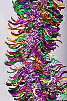 Новогодний декор елочное украшение дождик Мишура ширина 100мм длина 1,7 м, фото 1