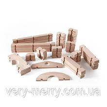 Модульний конструктор Guidecraft Block Play з великих блоків Дерев'яний містечко, 89 шт. (G6110)