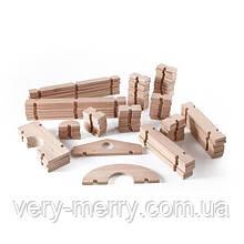 Модульный конструктор Guidecraft Block Play из больших блоков Деревянный городок, 89 шт. (G6110)