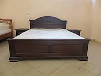 Кровать из дерева Флоренция (венге) двуспальная