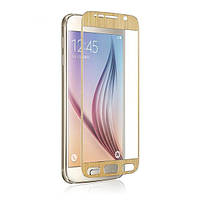 Защитное стекло ProGlass Satin Metal для Samsung G920F Galaxy S6 Gold