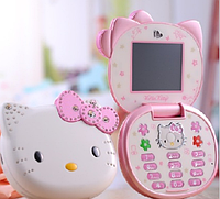 Hello Kitty T99 раскладной телефон для девочки (1 сим-карта хелло китти)
