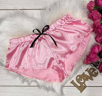 Розовые молодежные шорты с бантиком. Нижнее белье.