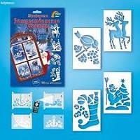 Карточка-трафарет НОТ-001 Рождественское окошко Vladi Toys