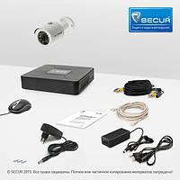 Комплект проводного видеонаблюдения Tecsar 1OUT + HDD 1ТБ