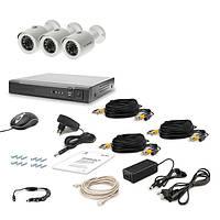 Комплект проводного видеонаблюдения Tecsar 3OUT LUX