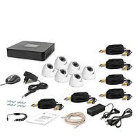 Комплект проводного видеонаблюдения Tecsar 6OUT-DOME