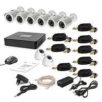 Комплект проводного видеонаблюдения Tecsar 8OUT-MIX2