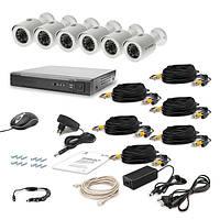 Комплект проводного видеонаблюдения Tecsar 6OUT LUX