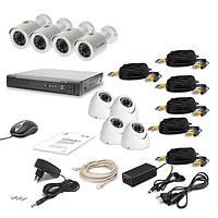 Комплект проводного видеонаблюдения Tecsar 8OUT-MIX LUX