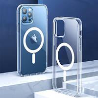 Чехол силиконовый MagSafe  для iPhone 12 Pro Max прозрачный, фото 1