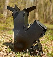 3мм. Турбо печь походная, ракетная печь, горелка на дровах разборная турбо піч