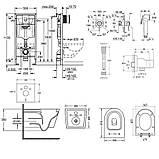 Комплект инсталляция Grohe Rapid SL 38721001 + унитаз с сиденьем Qtap Swan QT16335178W + набор для, фото 2