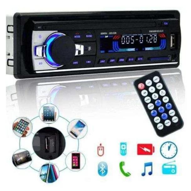 Автомагнітола 1DIN Polarlander JSD 520 Bluetooth магнітола для автомобіля підтримка USB/SD card