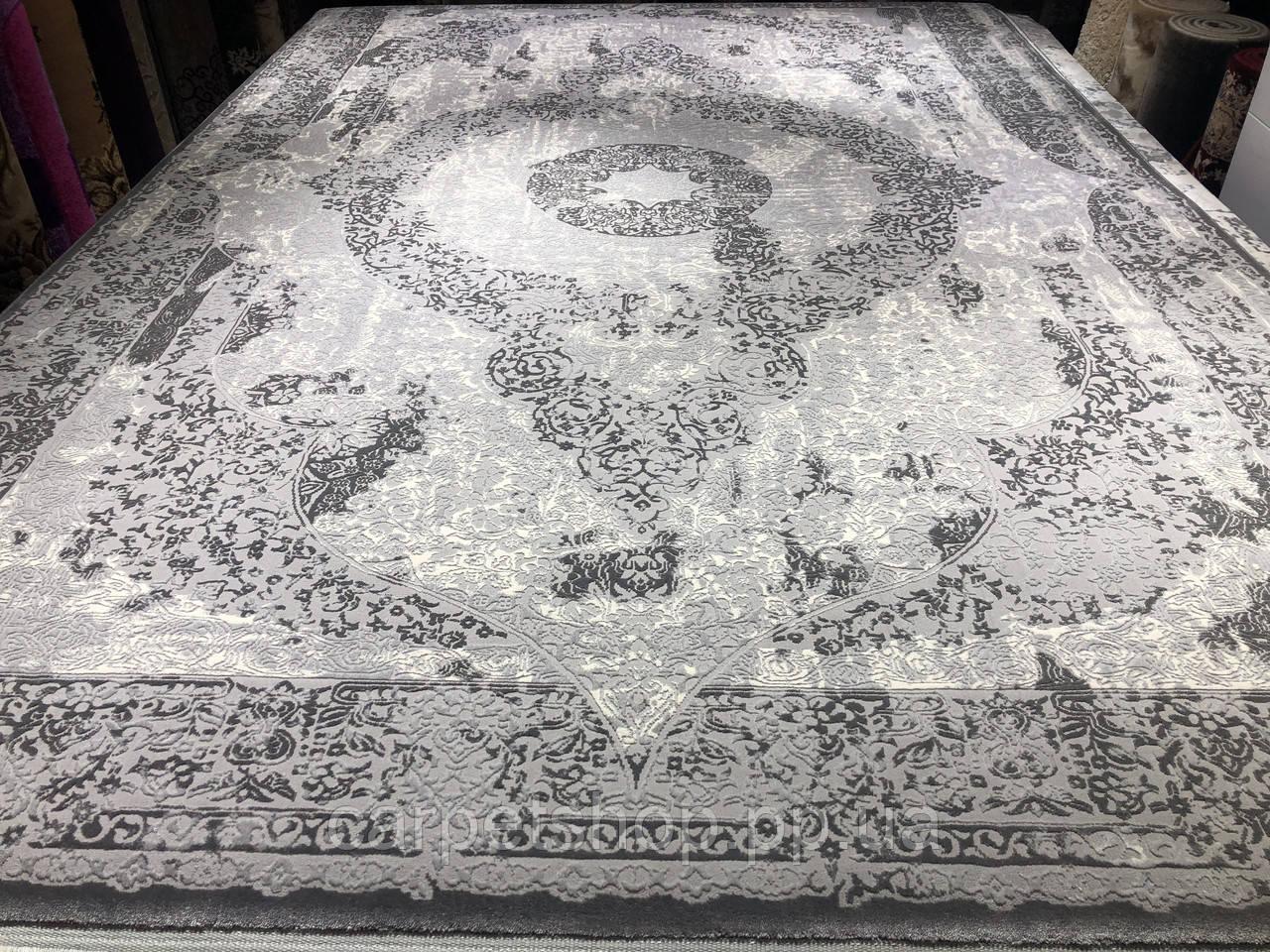 200х290 килим колір сірий, на підлогу.