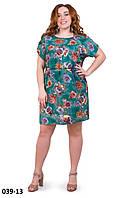 Повседневное свободное летнее платье размер 50-54, фото 1