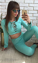 Стильний спортивний костюм з шнурівкою, фото 3