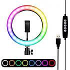 ОПТ Кільцева LED лампа RGB ring light NY002 26 см для фото та відео зйомки професійної зйомки, фото 3