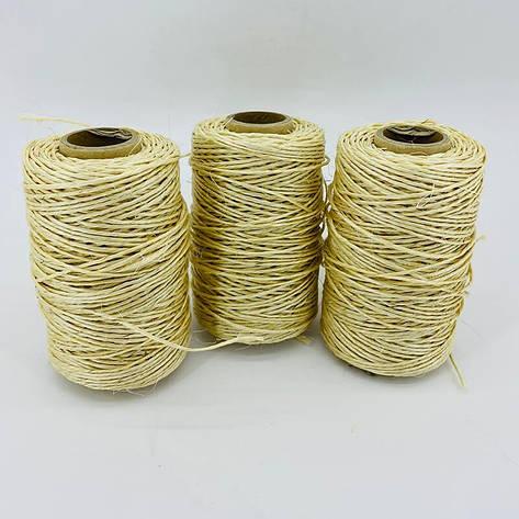 Сизалевая нить для когтеточки светлая 1,5 мм 150 г, фото 2