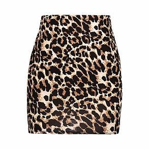 Стильна леопардова міні спідниця, фото 2
