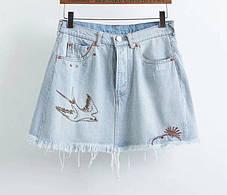 Стильная джинсовая юбка, фото 3