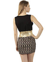 Стильное женское плаье с поясом оригинального дизайна, фото 3