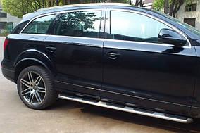 Audi Q7 2005-2015 гг. Боковые пороги OEM (2 шт., алюминий)