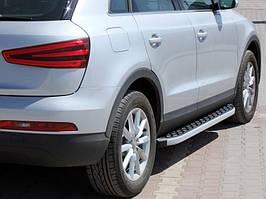 Audi Q7 2005-2015 гг. Боковые пороги BlackLine (2 шт, алюминий)