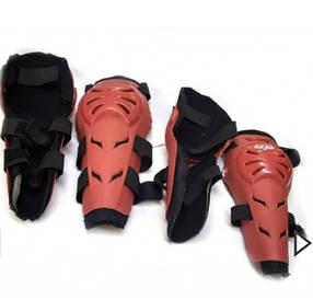 Красная шарнирная защита коленей и локтей  Fox